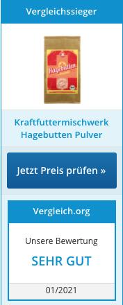 Hagebuttenpulver Testsieger 01/2021