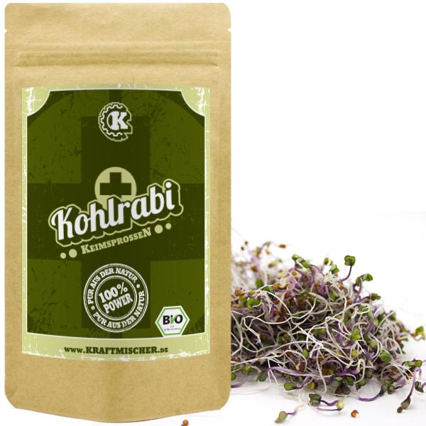 Kohlrabi (rosa) BIO Keimsprossen