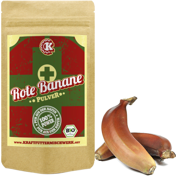Rote Banane Pulver bio